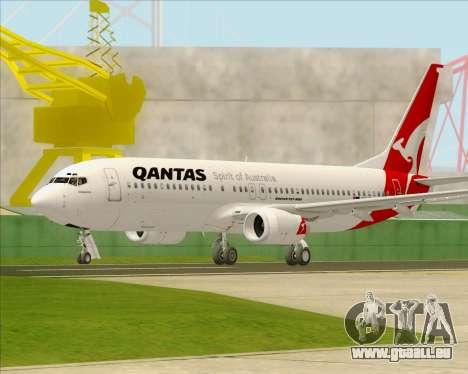 Boeing 737-838 Qantas pour GTA San Andreas sur la vue arrière gauche