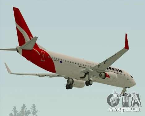Boeing 737-838 Qantas pour GTA San Andreas vue arrière