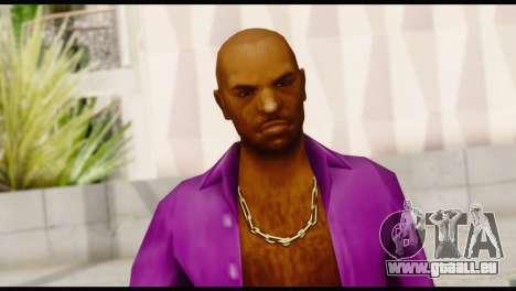 Purple Shirt Vic pour GTA San Andreas troisième écran