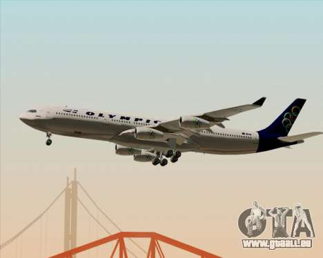 Airbus A340-313 Olympic Airlines für GTA San Andreas Unteransicht