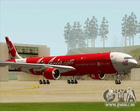Airbus A330-300 Air Asia X pour GTA San Andreas laissé vue