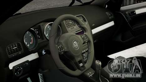 Volkswagen Golf R 2010 MTM Paintjob pour GTA 4 est une vue de l'intérieur