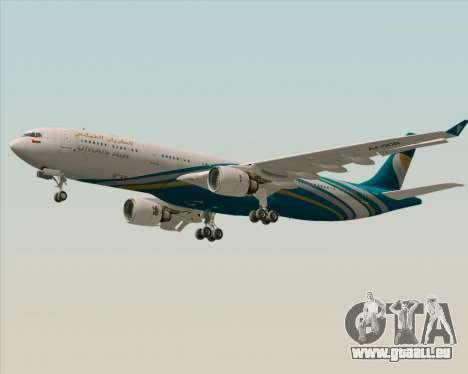 Airbus A330-300 Oman Air für GTA San Andreas Seitenansicht