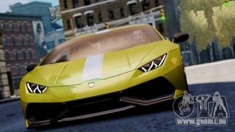 Lamborghini Huracan LP610-2 Valentino Balboni pour GTA 4 est un côté