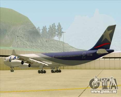 Airbus A340-313 LAN Airlines für GTA San Andreas rechten Ansicht