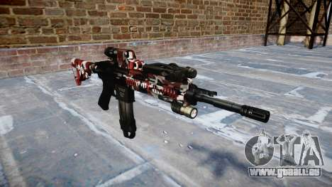 Automatische Gewehr Colt M4A1 sind blutunterlauf für GTA 4