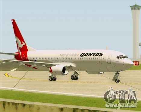Boeing 737-838 Qantas für GTA San Andreas Seitenansicht