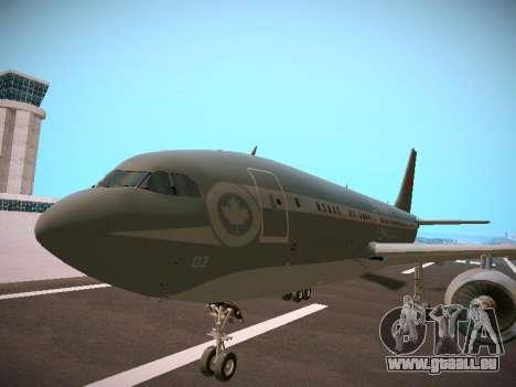 Canadian Forces Airbus CC150 Polaris pour GTA San Andreas sur la vue arrière gauche