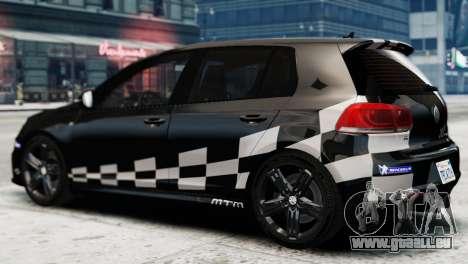Volkswagen Golf R 2010 MTM Paintjob pour GTA 4 est une gauche