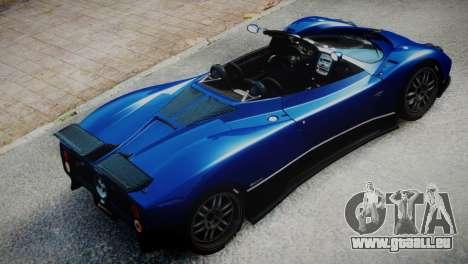 Pagani Zonda S (C12S) Roadster 2011 für GTA 4 hinten links Ansicht