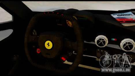 Ferrari LaFerrari 2014 (HQLM) pour GTA San Andreas sur la vue arrière gauche