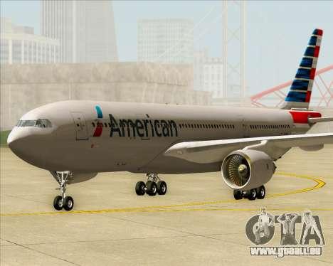 Airbus A330-200 American Airlines für GTA San Andreas zurück linke Ansicht