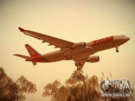 Airbus A330-200 TAM Airlines pour GTA San Andreas vue intérieure