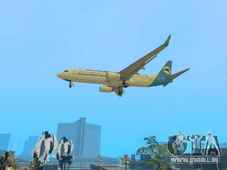 Boeing 737-84R Ukraine International Airlines für GTA San Andreas Rückansicht