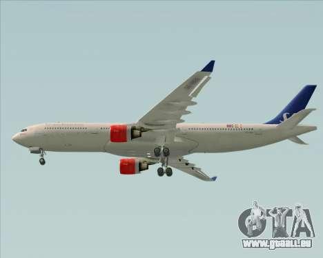 Airbus A330-300 Scandinavian Airlines System. für GTA San Andreas Seitenansicht