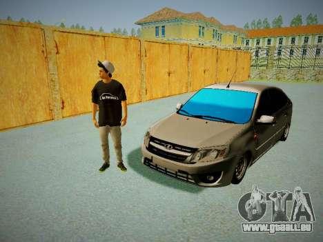 Lada Granta Liftback für GTA San Andreas Innenansicht