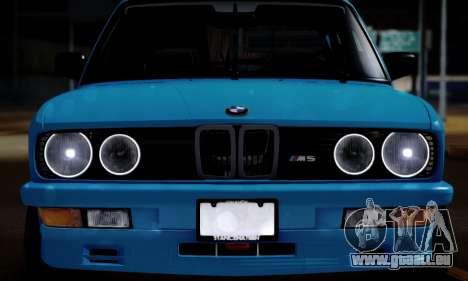 BMW M5 E28 pour GTA San Andreas sur la vue arrière gauche