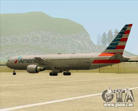 Boeing 767-323ER American Airlines für GTA San Andreas obere Ansicht
