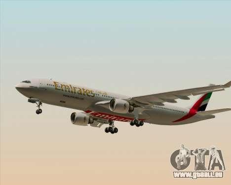 Airbus A330-300 Emirates für GTA San Andreas Unteransicht