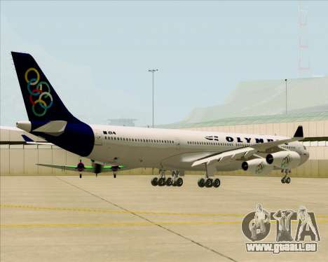 Airbus A340-313 Olympic Airlines pour GTA San Andreas vue arrière