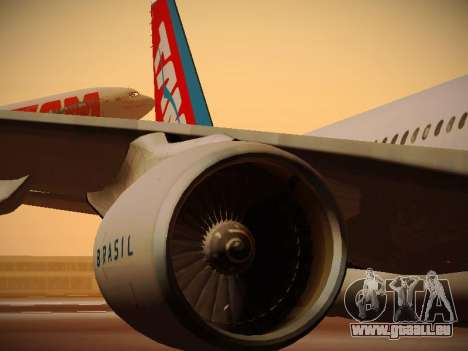 Airbus A330-200 TAM Airlines pour GTA San Andreas roue