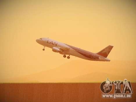 Airbus A320-214 LAN Airlines pour GTA San Andreas vue de dessous