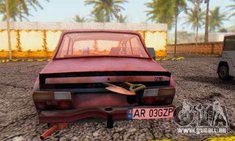 Dacia 1310 MLS Rusty Edition 1988 pour GTA San Andreas sur la vue arrière gauche