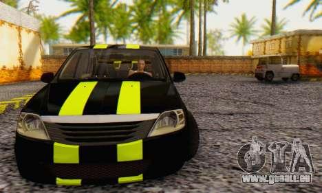 Dacia Logan Black Style für GTA San Andreas linke Ansicht