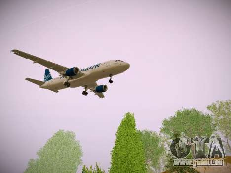 Airbus A320-211 Aigle Azur pour GTA San Andreas vue arrière