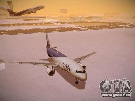 Airbus A320-214 LAN Airlines für GTA San Andreas Innen