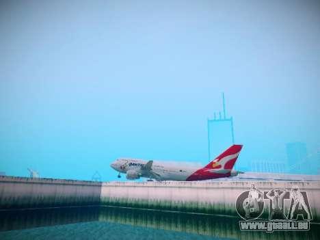Boeing 747-438 Qantas Boxing Kangaroo pour GTA San Andreas vue arrière