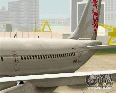 Airbus A330-300 Dragonair pour GTA San Andreas vue de côté
