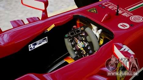 Ferrari F138 v2 pour GTA 4 est une vue de l'intérieur