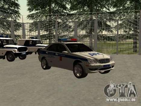 Mercedes-Dps für GTA San Andreas rechten Ansicht