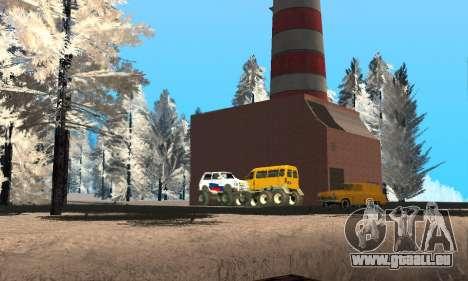 De la neige pour GTA Pénale de la Russie bêta 2 pour GTA San Andreas neuvième écran