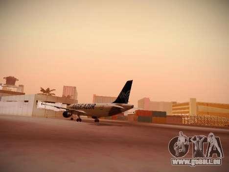 Airbus A320-211 Aigle Azur für GTA San Andreas zurück linke Ansicht