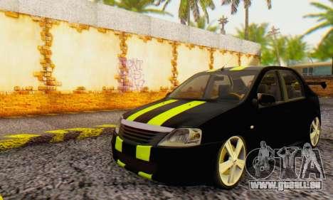 Dacia Logan Black Style für GTA San Andreas