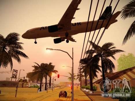 Airbus A320-211 Aigle Azur für GTA San Andreas Unteransicht