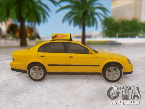 Chevrolet Evanda Taxi pour GTA San Andreas vue intérieure