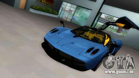 Pagani Huayra 2012 pour GTA Vice City vue arrière