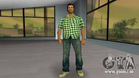 Kockas polo - zold T-Shirt für GTA Vice City zweiten Screenshot