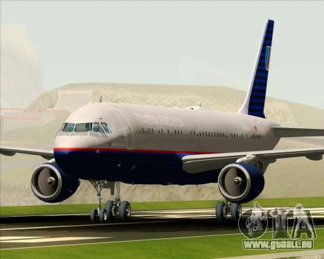 Airbus A320-232 United Airlines (Old Livery) pour GTA San Andreas