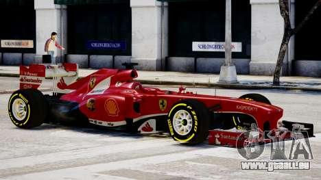 Ferrari F138 v2 pour GTA 4 Vue arrière de la gauche