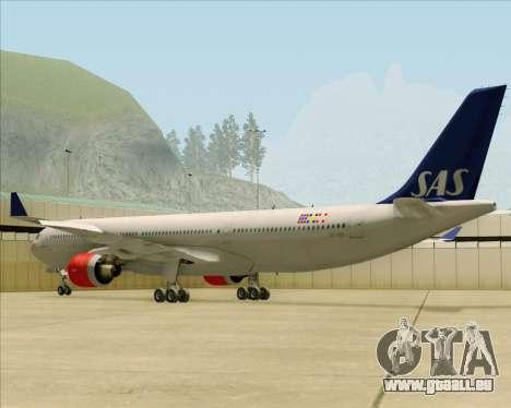 Airbus A330-300 Scandinavian Airlines System. für GTA San Andreas zurück linke Ansicht