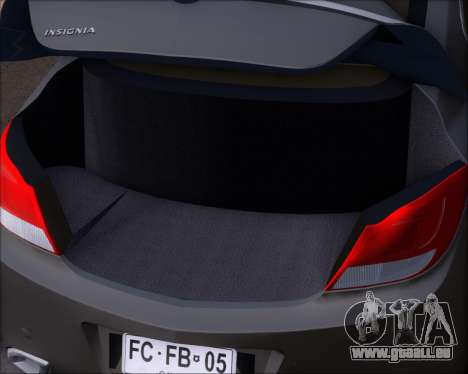 Opel Insignia OPC für GTA San Andreas Unteransicht