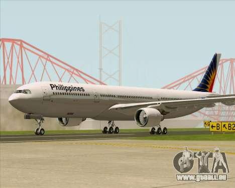 Airbus A330-300 Philippine Airlines pour GTA San Andreas sur la vue arrière gauche