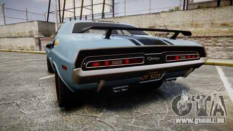 Dodge Challenger 1971 v2.2 PJ2 für GTA 4 hinten links Ansicht