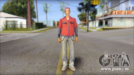 Marty from Back to the Future 2015 für GTA San Andreas