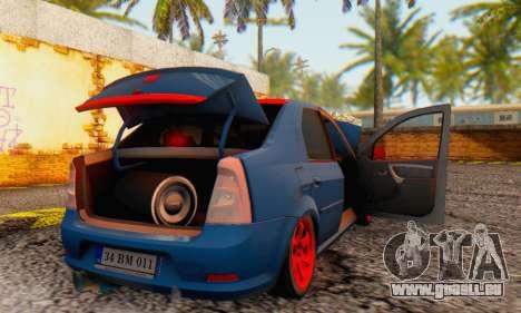 Dacia Logan Turkey Tuning für GTA San Andreas Unteransicht