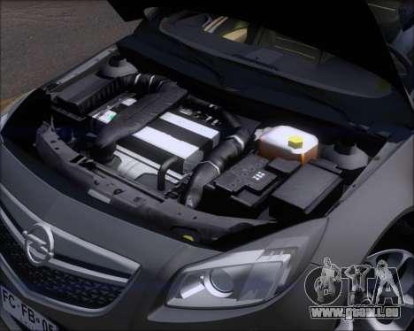Opel Insignia OPC für GTA San Andreas obere Ansicht
